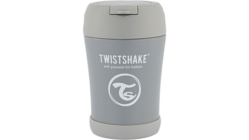 Twistshake Isolier Lebensmittel Container Pastell Grau