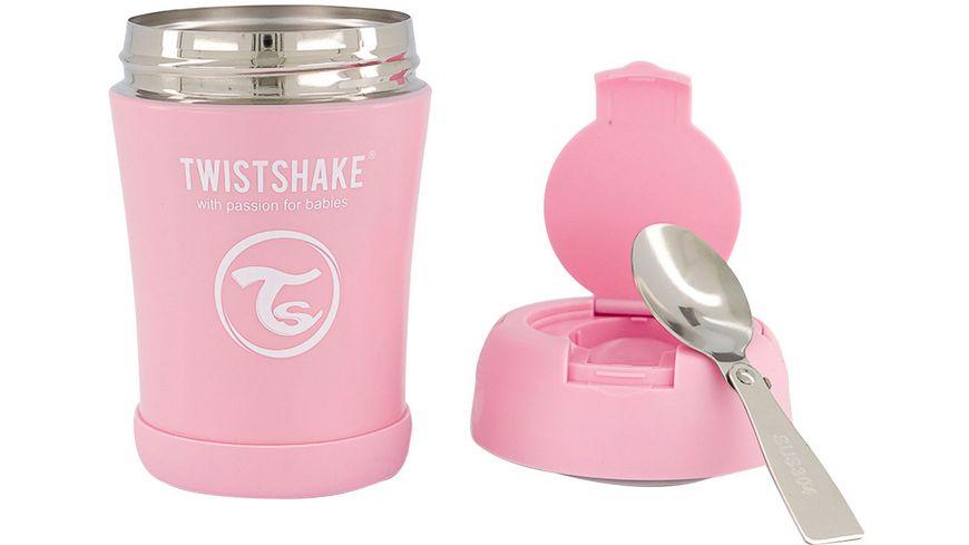 Twistshake Isolier Lebensmittel Container Pastell Pink