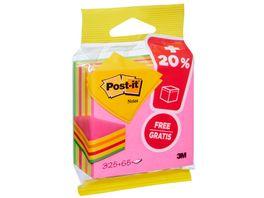 3M Post it Notes Wuerfel Neon Pink Promo 76 x 76mm 325 Blatt 20 gratis