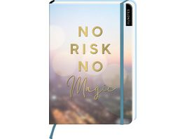 myNOTES Notizbuch A5 No Risk no magic punktkariert