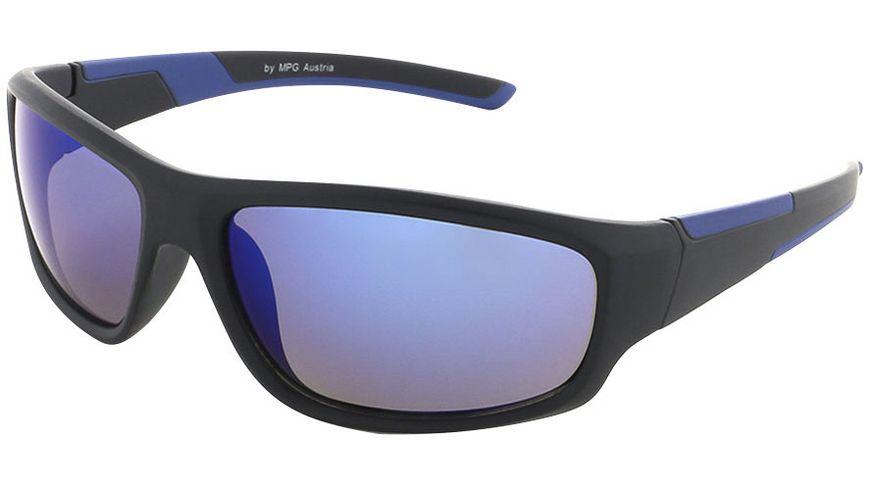 Basley Sun KIDS Sonnenbrille 8098-S-31 Kunststoff Schwarz/Blau Verspiegelt