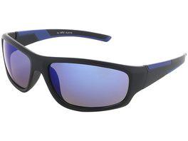 Basley Sun KIDS Sonnenbrille 8098 S 31 Kunststoff Schwarz Blau Verspiegelt