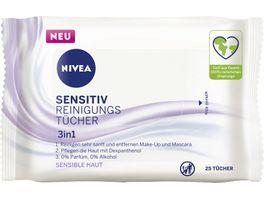NIVEA Sensitiv Reinigungstuecher 3in1 25 Stueck