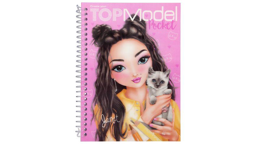 topmodel pocket malbuch mit 3d cover online bestellen