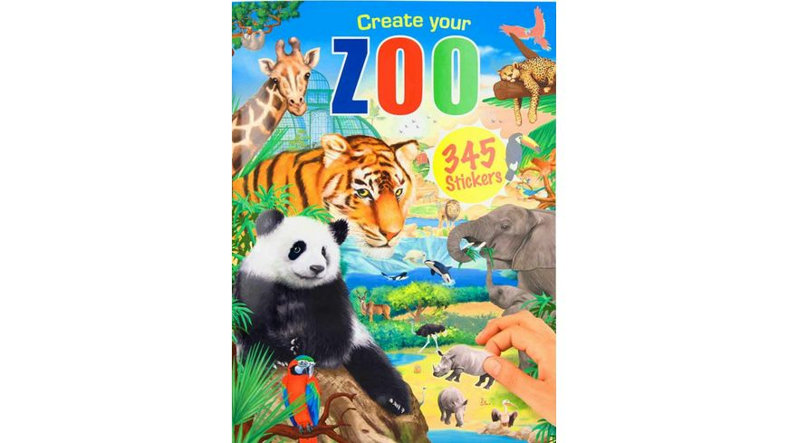 Create your ZOO, Malbuch mit Stickern