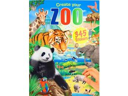Create your ZOO Malbuch mit Stickern