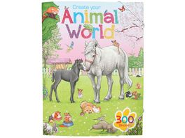 Create Your Animal World Malbuch mit Stickern