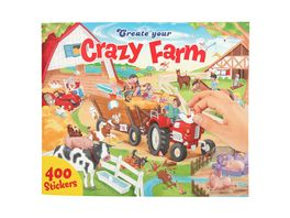 Create your Crazy Farm Malbuch mit Stickern