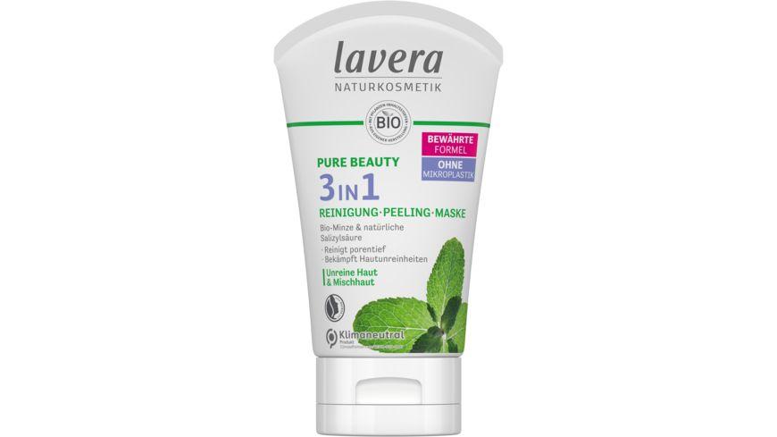 lavera Pure Beauty 3in1 Reinigung, Peeling, Maske