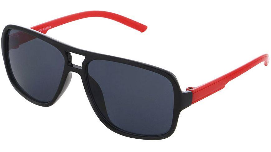 Basley Sun KIDS Sonnenbrille 8099-A-31 Kunststoff Schwarz/Rot