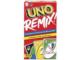 Mattel Games GXD71 UNO Remix Individuell gestaltbares Kartenspiel mit 112 teilweise beschriftbaren Karten Spieleabend Geschenk fuer Spieler ab 7 Jahren