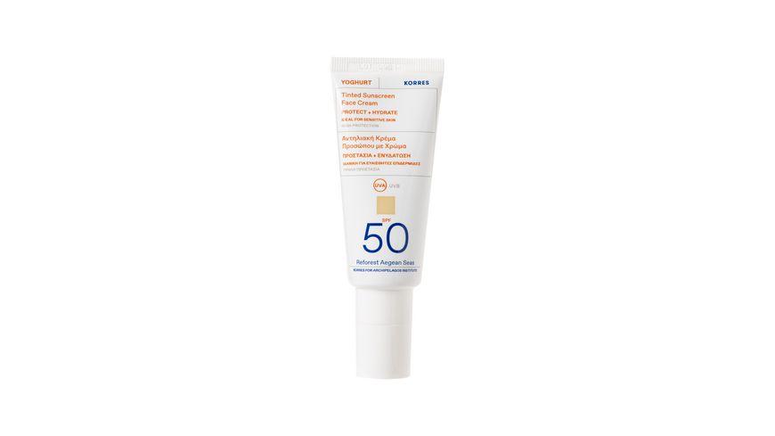 KORRES Yoghurt Getöntes Sonnencreme-Gel für das Gesicht SPF50
