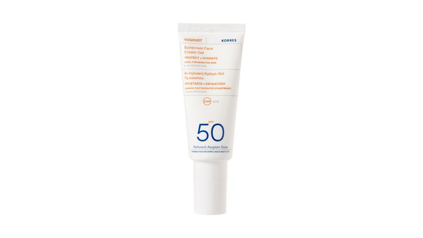 KORRES Yoghurt Sonnencreme-Gel für das Gesicht SPF50