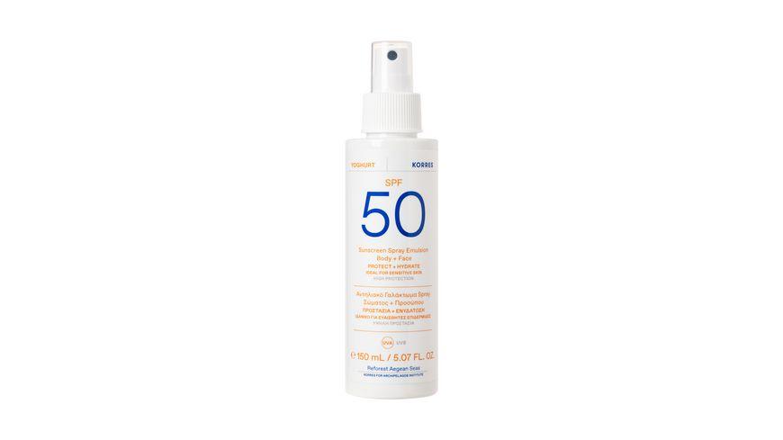 KORRES Yoghurt Sonnenschutz Sprüh-Emulsion für Gesicht & Körper SPF50