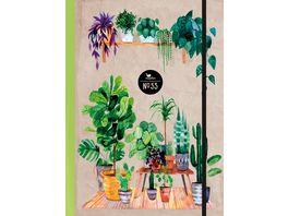 Notizbuch No 53 Green Home 17 5 x 13cm