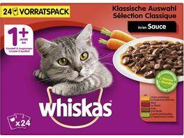 WHISKAS Katzennassfutter Portionsbeutel Multipack 1 Klassische Auswahl in Sauce