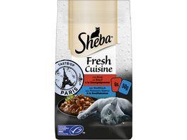 SHEBA Portionsbeutel Multipack Fresh Cuisine Taste of Paris mit Rind und mit Weissfisch MSC 6 x 50g