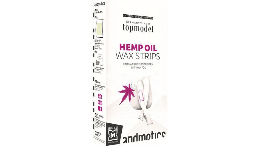 andmetics GNTM Hemp Oil Wax Strips