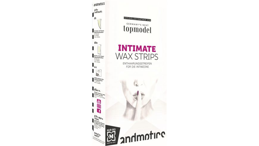 andmetics GNTM Intimate Wax Strips