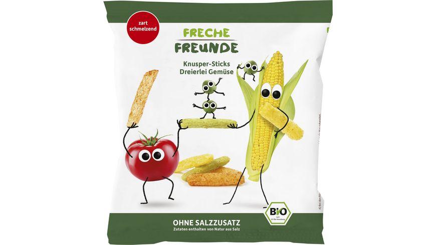 Freche Freunde Bio Knusper Sticks-Dreierlei Gemüse