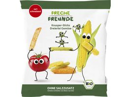 Freche Freunde Bio Knusper Sticks Dreierlei Gemuese