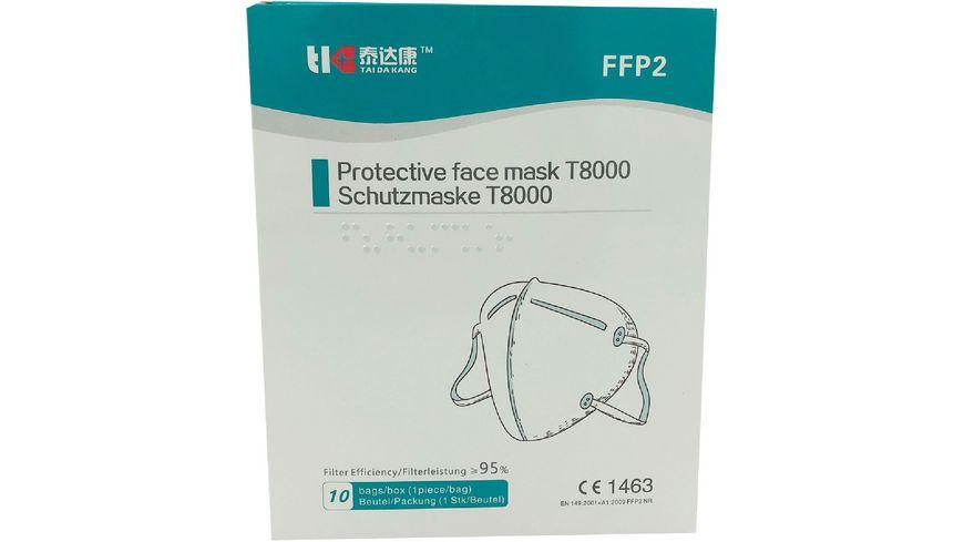 TAIDAKANG FFP2 Masken 10er BOX weiß
