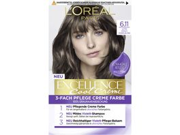 L OREAL PARIS Excellence Cool Creme 6 11 Ultra kuehles Dunkelblond