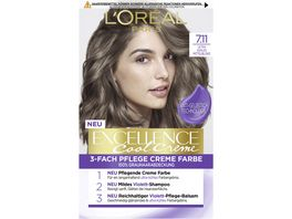 L OREAL PARIS Excellence Cool Creme 7 11 Ultra kuehles Mittelblond