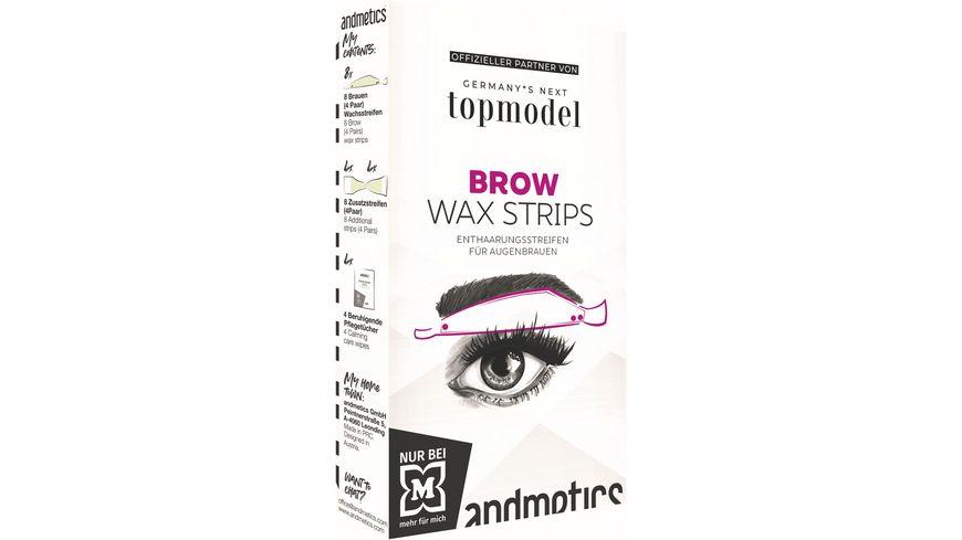 andmetics GNTM Brow Wax Strips Woman