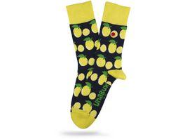 Unabux Unisex Socken Zitrone