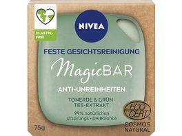 NIVEA MagicBAR Anti Unreinheiten Feste Gesichtsreinigung mit Tonerde Gruentee Extrakt