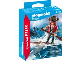 PLAYMOBIL 70598 Special Plus Pirat mit Floss und Hammerhai