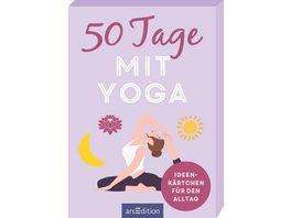50 Tage mit Yoga Ideenkaertchen fuer den Alltag