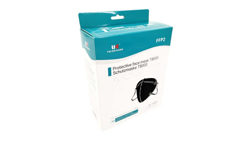TAIDAKANG FFP2 Masken 10er BOX schwarz