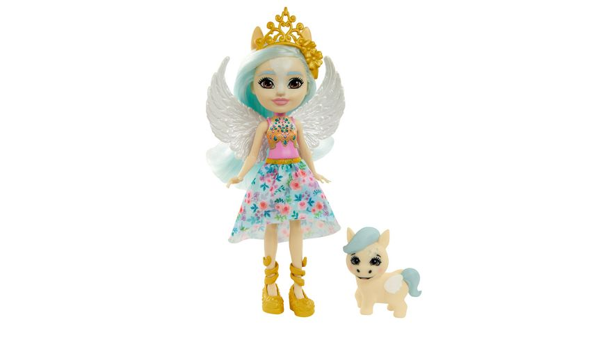 Mattel - Enchantimals - GYJ03 Royals Paolina Pegasus Puppe & Wingley