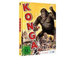 KONGA Uncut Limited Mediabook mit Blu ray DVD in HD neu abgetastet