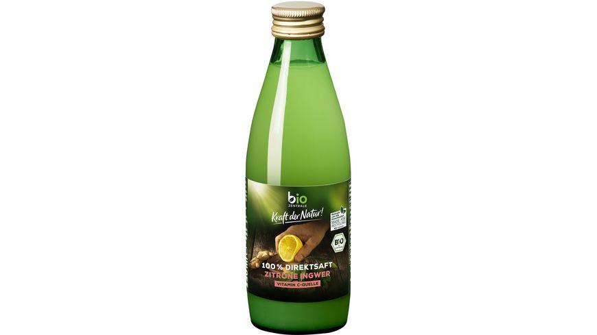biozentrale Zitronen Ingwer Saft 250ml