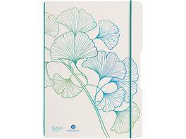 herlitz my book flex Notizheft A4 2x40 Blatt kariert liniert GREENline Ginkgo