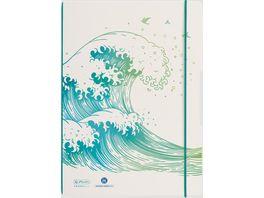 herlitz my book flex Notizheft A4 2x40 kariert liniert GREENline Motiv Welle