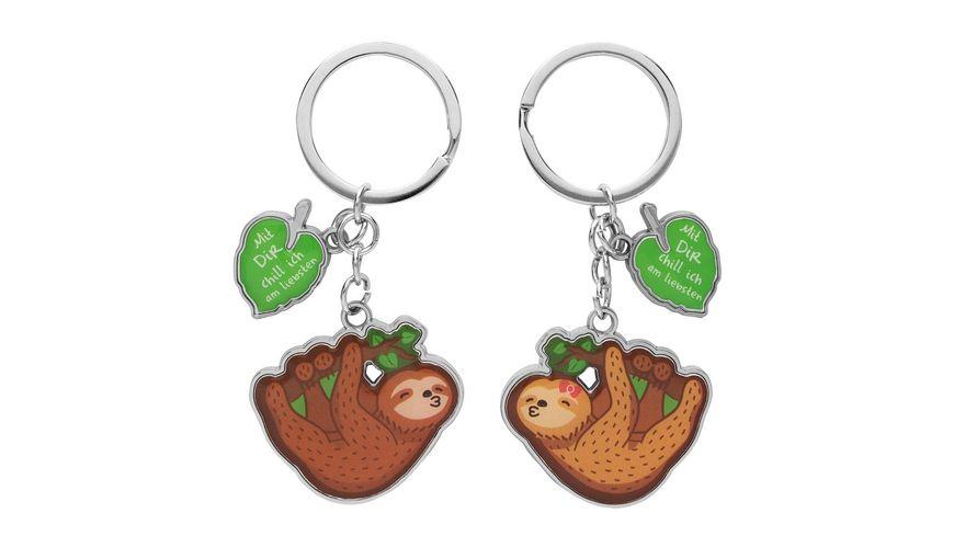 GRUSS & CO Schlüsselanhänger für Zwei »Mit Dir chill ich am liebsten«