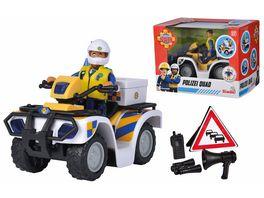 Simba Feuerwehrmann Sam Polizei Quad inkl Polizist Malcom Figur und Zubehoer