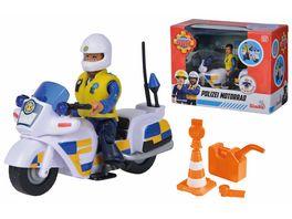 Simba Feuerwehrmann Sam Polizei Motorrad inkl Polizist Malcom Figur und Zubehoer