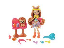 Enchantimals Friseursalon Spielset mit Lacey Lion