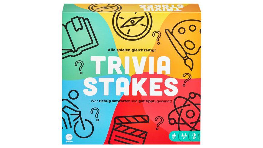 Mattel Games Trivia Stakes Brettspiel, Quiz-Spiel, Gesellschaftsspiel