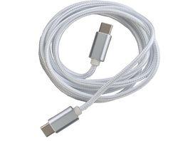 PETER JAeCKEL FASHION 1 5m Data Cable White fuer Typ C Apple Lightning mit Sync und Ladefunktion