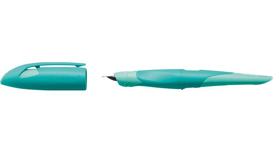 STABILO® EASYbirdy® Ergonomischer Schulfüller Pastel Edition pastellgrün/aquagrün Feder M