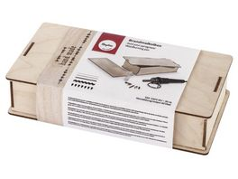 Rayher Brandmalkolben Set in Holzbox inklusive Zubehoer