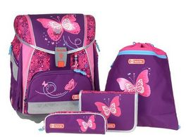 Step by Step TOUCH 2 Flash Schulranzen Set Shiny Butterfly 4 teilig