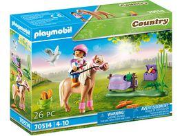 PLAYMOBIL 70514 Country Sammelpony Islaender