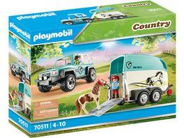 PLAYMOBIL 70511 Country PKW mit Ponyanhaenger